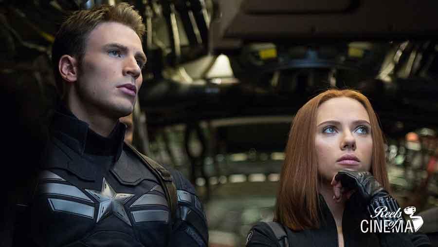 Steve y Natasha en Capitán América: El soldado de invierno