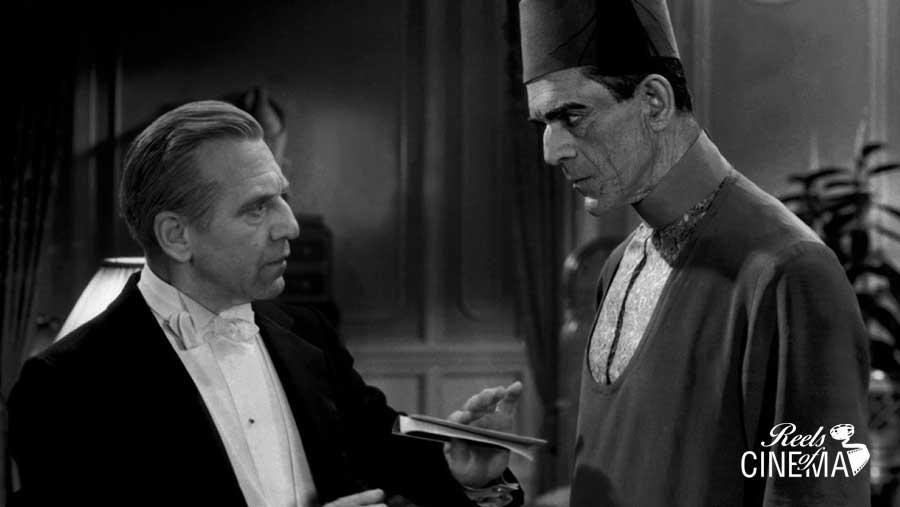 Muller (Edward Van Sloan) y Boris Karloff