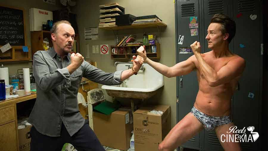 Michael Keaton y Edward Norton
