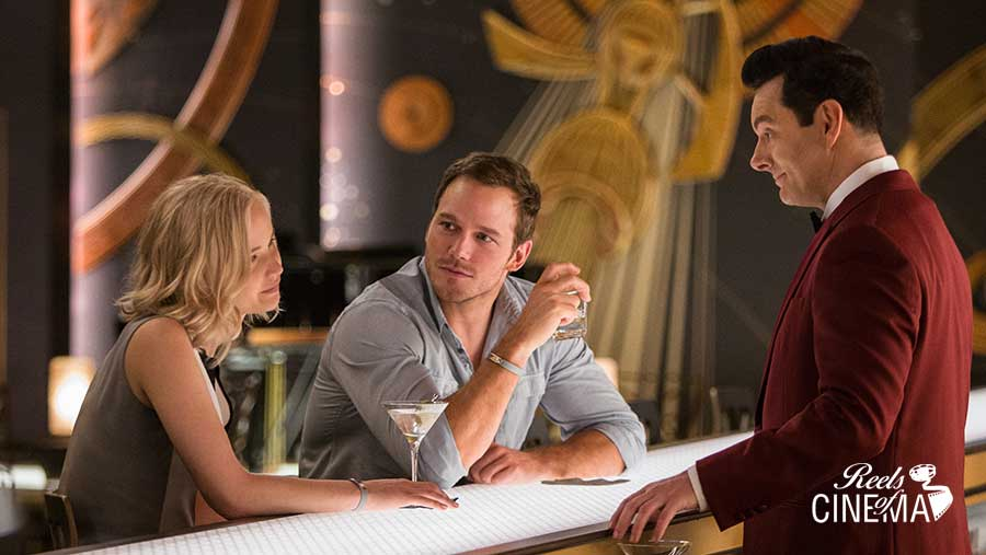 Jennifer Lawrence, Chris Pratt y Martin Sheen