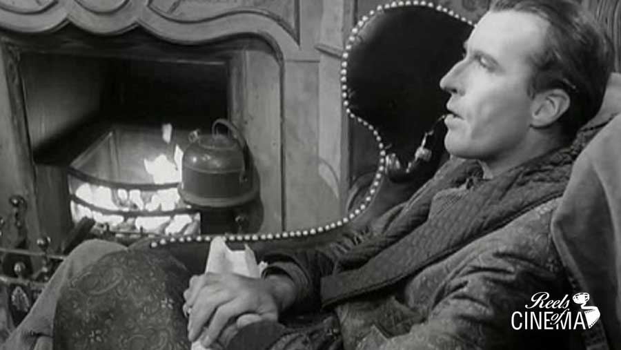 Imagen de Christopher Lee como Sherlock Holmes