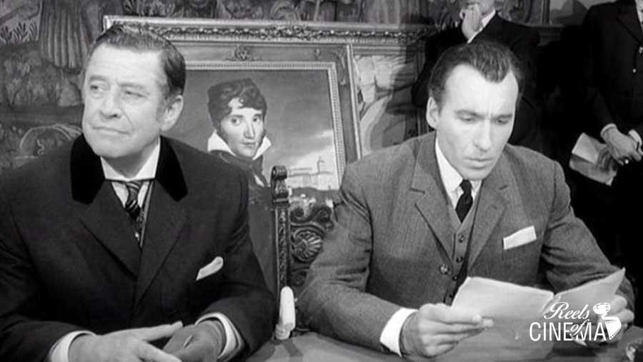 Hans Söhnker (Moriarty) y Sherlock
